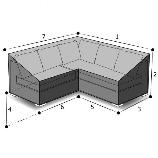 Housse canapé d'angle sur mesure