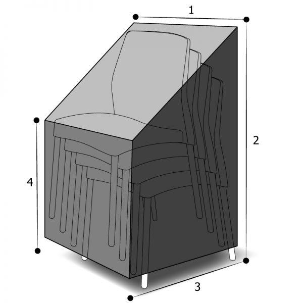 Housse sur mesure chaises empilées avec côtes