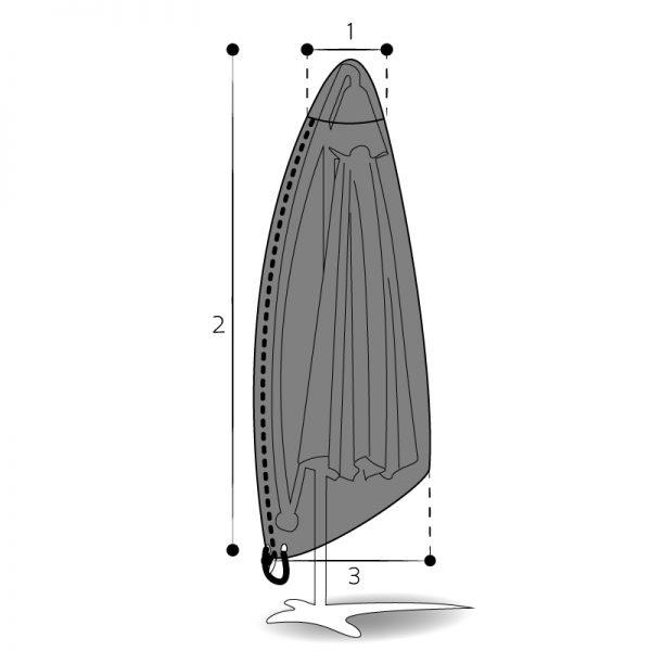 housse sur mesure parasol déporté
