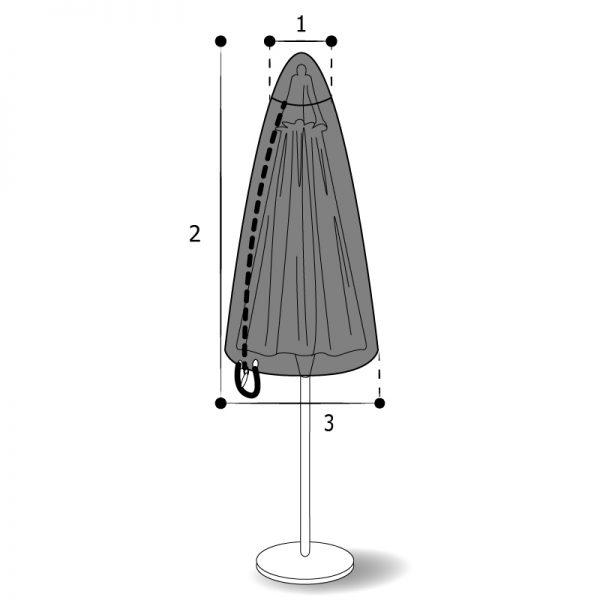 housse sur mesure parasol