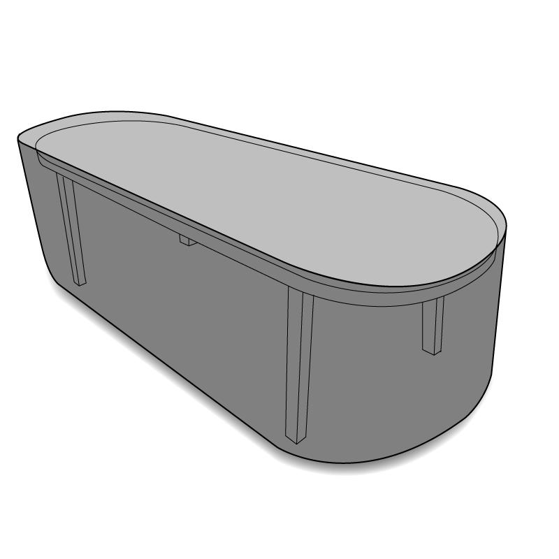 Housse sur mesure table ovale