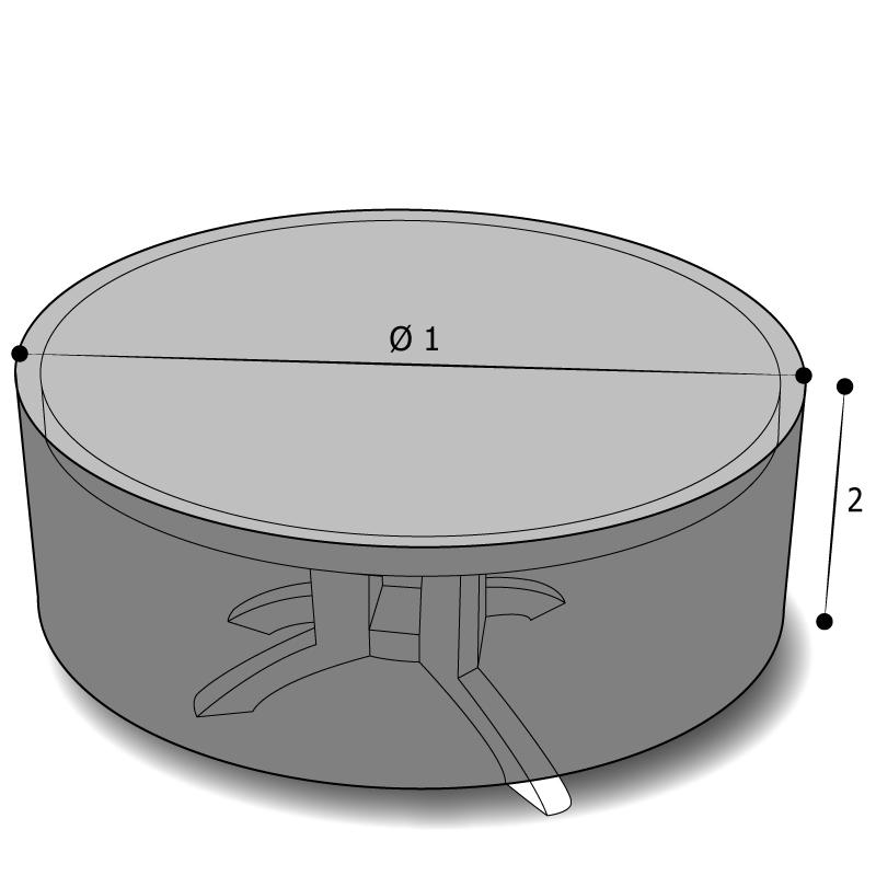 housse sur mesure table ronde