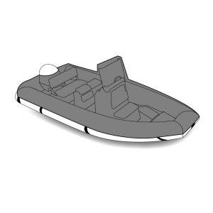 Housse de protectionsur mesure bateau avec cockpit