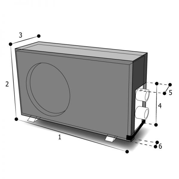 housse pompe à chaleur ouverture latérale