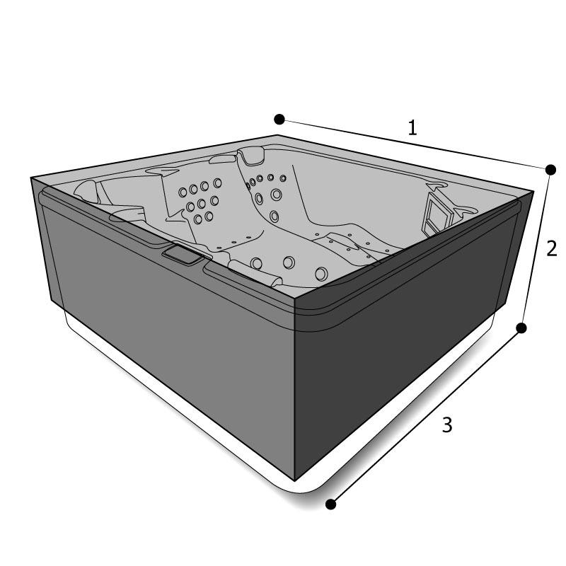 spa jacuzzi rectangulaire