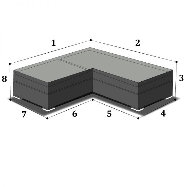 Housse de protection sur mesure pour banquette d'angle