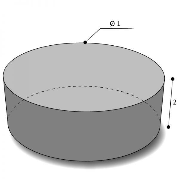 housse sur mesure forme cylindrique