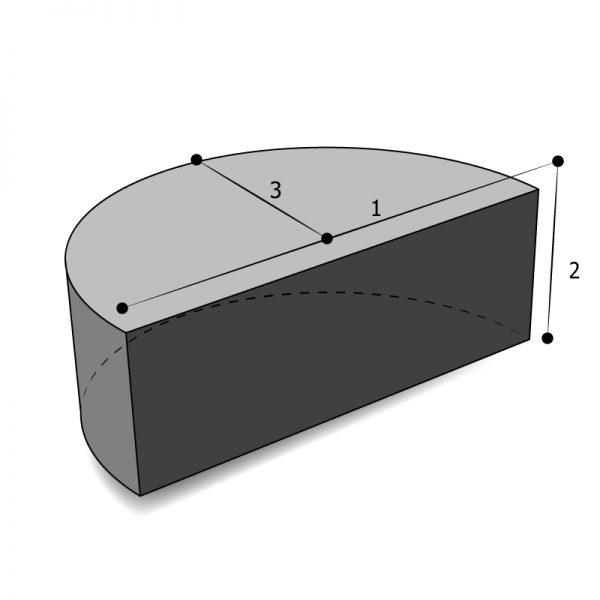 Housse sur mesure forme demi cylindrique