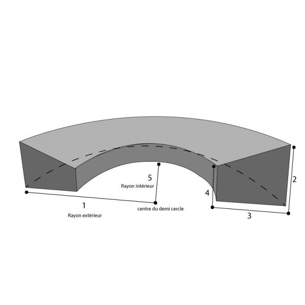 housse sur mesure canapé demi circulaire
