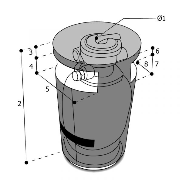 Housse sur mesure filtre à sable double sorties