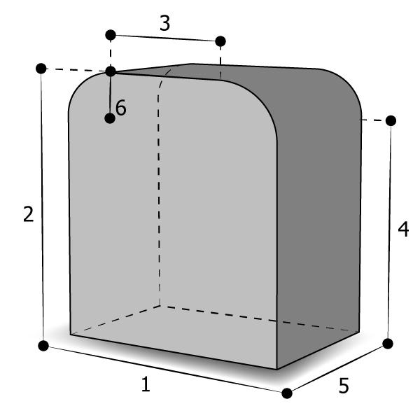 Housse sur mesure base rectangulaire arrondi