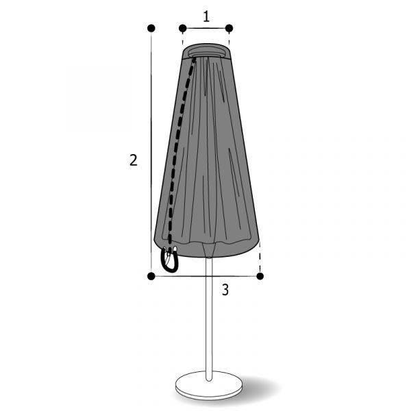 housse sur mesure parasol tête plate