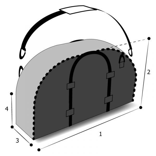 sac sur mesure demi-circulaire